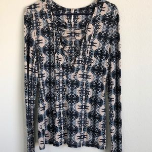 FREE PEOPLE LARGE DRAWSTRING CHEST TOP NWOT